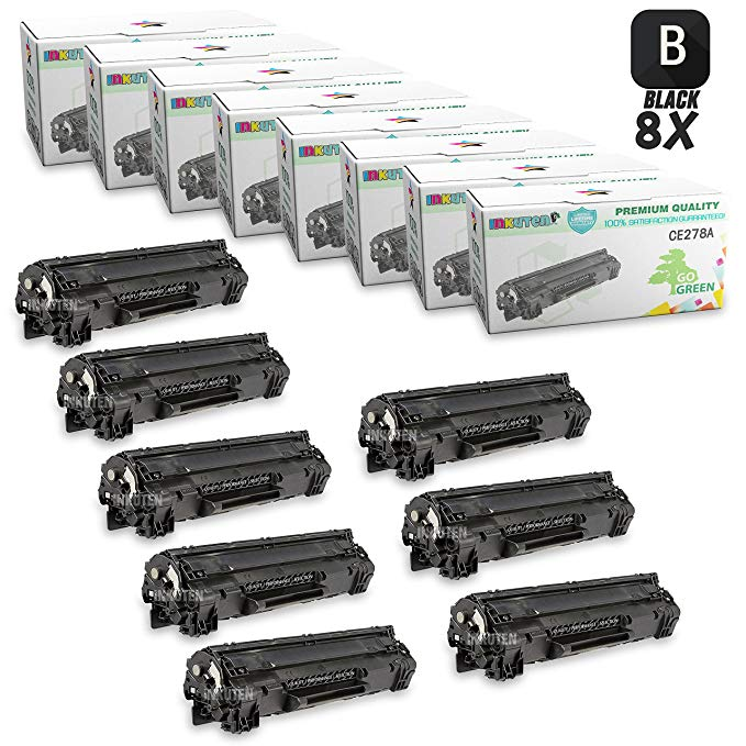 INKUTEN Compatible Toner Cartridge リプレイスメント for HP 1606 CE278A 78A (8 ブラック Toners) Compatible With HP LaserJet P1566, M1536dnf, P1606dn Printers (海外取寄せ品)[汎用品]
