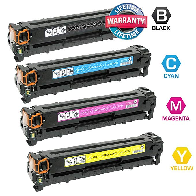 INKUTEN c New Compatible HP CF380A CF381A CF382A CF383A (HP 312A) セット of 4 Toner Cartridges (1Bk, 1C, 1M, 1Y) for HP カラー LaserJet プロ MFP M476dn, LaserJet プロ MFP M476dw, LaserJet プロ MFP M476nw Printers (海外取寄せ品)[汎用品]