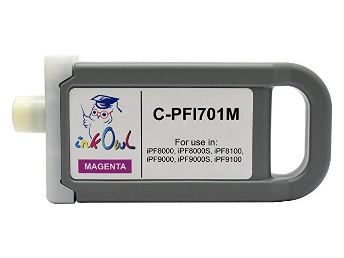 InkOwl - Compatible Ink Cartridge リプレイスメント for Canon PFI-701M (700ml, magenta) for iPF8000, iPF8000S, iPF8100, iPF9000, iPF9000S, iPF9100 printers (海外取寄せ品)[汎用品]