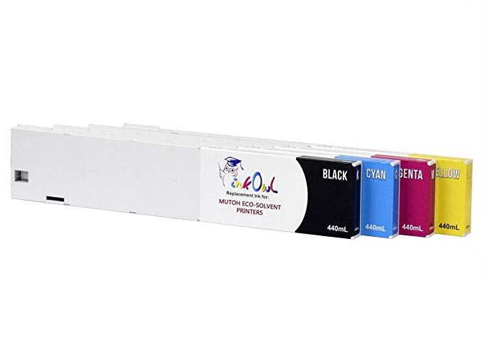 InkOwl - Compatible Ink Cartridge リプレイスメント for MUTOH エコ-ULTRA Printers (440mL, 4-pack) - USA-メイド ink (海外取寄せ品)[汎用品]