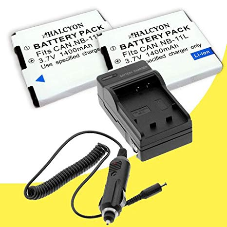 Two NB-11L Lithium イオン リプレイスメント Batteries + External Rapid Charger for Canon Elph 110 HS, Canon PowerShot A2300, A2400 IS, A3400, A4000 IS, Canon Ixus 125 HS, 240 HS デジタル Cameras DavisMAX NB11L アクセサリー バンド (海外取寄せ品)[汎用品]