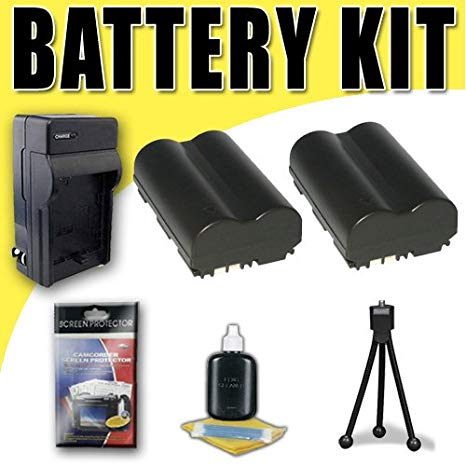 Two BP511 Lithium イオン リプレイスメント Batteries w/Charger for Canon EOS 10D 20D 30D 300D 40D 50D 5D デジタル SLR Cameras DavisMAX バンドル (海外取寄せ品)[汎用品]