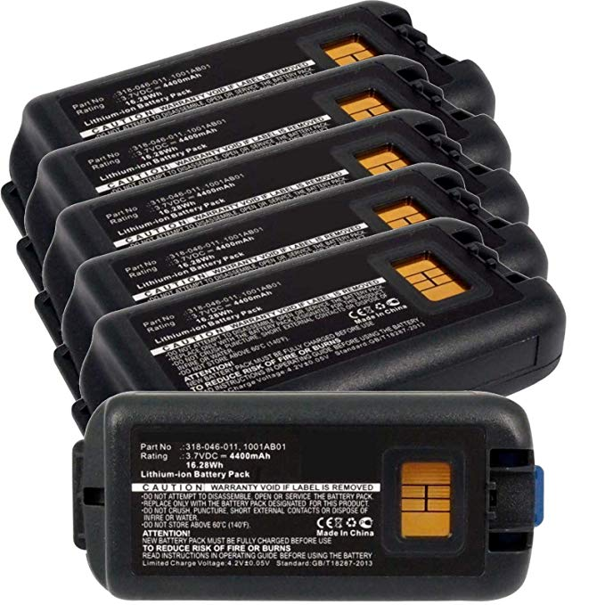 6x Exell EBS-CK70 Li-イオン 3.7V 4400mAh Batteries For Intermec CK70, CK71. Replaces キャメロン Sino CS-ICK700BL, INTERMEC 1001AB01, 1001AB02, 318-046-001, 318-046-011 (海外取寄せ品)[汎用品]