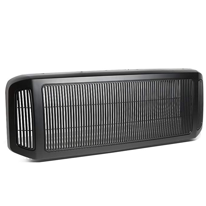 DNA Motoring GRLDM-FSD05-BK マット ブラック ABS フロント Bumper Grille [For 05-07 Ford Super Duty] (海外取寄せ品)