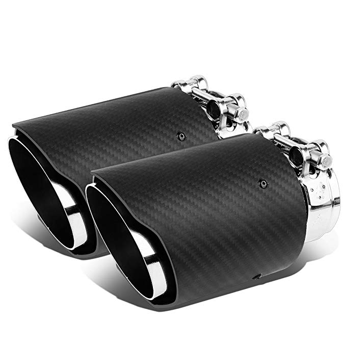 DNA Motoring MF-TIP-CB-T1-X2 ステンレス スチール Exhaust Muffler Tip X 2 (海外取寄せ品)