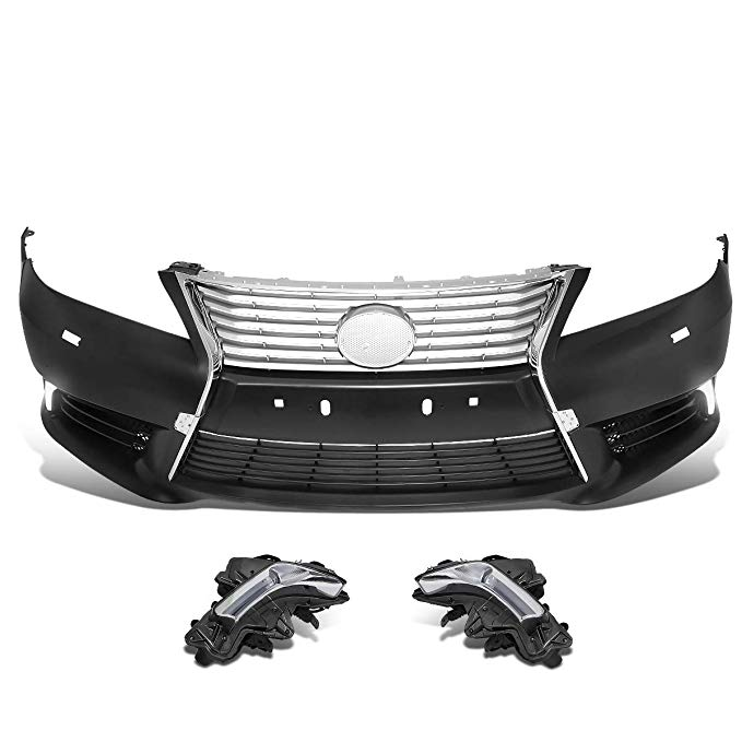DNA MOTORING BMP-LES01 Hourglass スタイル フロント Bumper カバー with LED Fog Light (for 10-12 ES350) (海外取寄せ品)