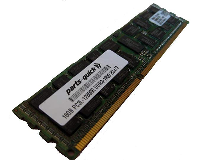 16GB DDR3 メモリ memory Upgrade for Quanta STRATOS Motherboard S210-MBT2W Server PC3L-12800 1600MHz ECC レジスター ロー Voltage DIMM (PARTS-クイック BRAND) (海外取寄せ品)