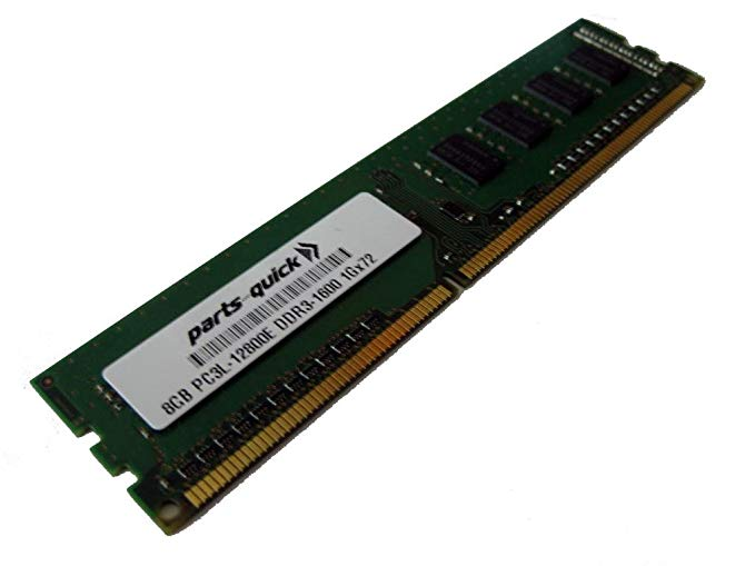 8GB DDR3 メモリ memory Upgrade for エイスース ASUS/ASmobile RS Server RS720Q-E7/RS12 PC3L-12800E 1600MHz ECC ロー Voltage Unbuffered DIMM (PARTS-クイック BRAND) (海外取寄せ品)