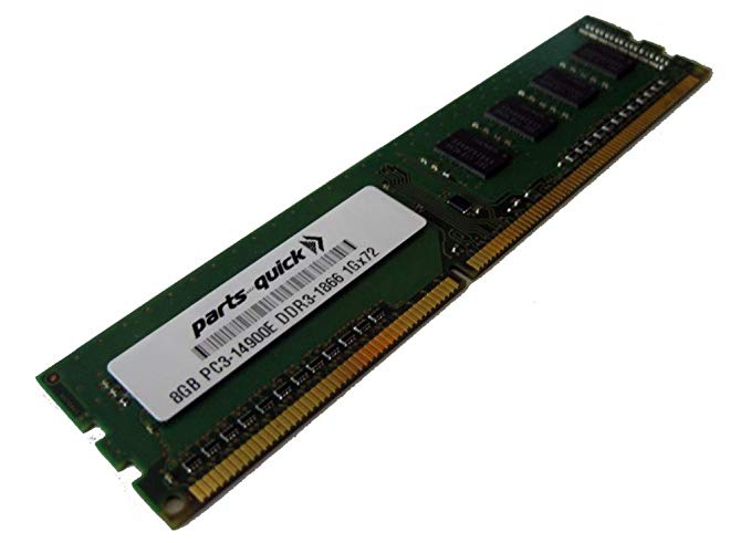 HP 8GB (1x8GB) デュアル Rank x8 PC3-14900E DDR3-1866 Unbuffered CAS-13 Memory for HP ProLiant SL250s Gen8 (G8) (PARTS-クイック BRAND) (海外取寄せ品)