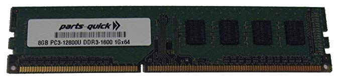 8GB DDR3 メモリ memory for EliteGroup (ECS) - H81H3-I/DVI Motherboard PC3-12800 1600MHz NON-ECC デスクトップ DIMM RAM Upgrade (PARTS-クイック BRAND) (海外取寄せ品)