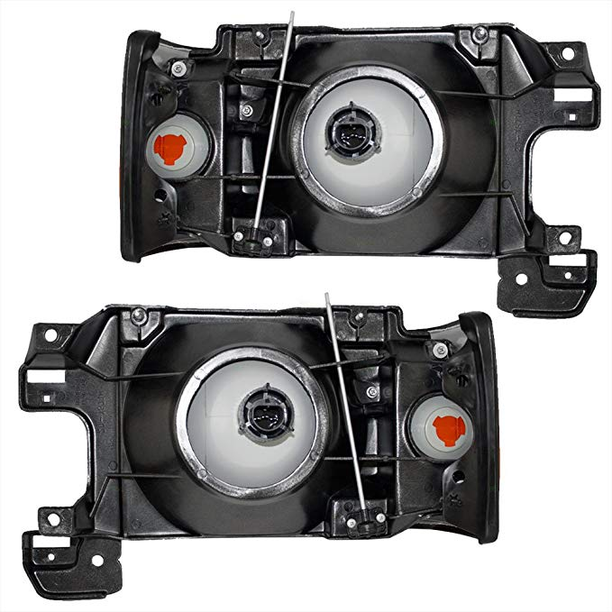 ドライバー and Passenger Headlights Headlamps with パーク ランプ リプレイスメント for Ford Pickup Truck SUV E9TZ13008D E9TZ13008C (海外取寄せ品)