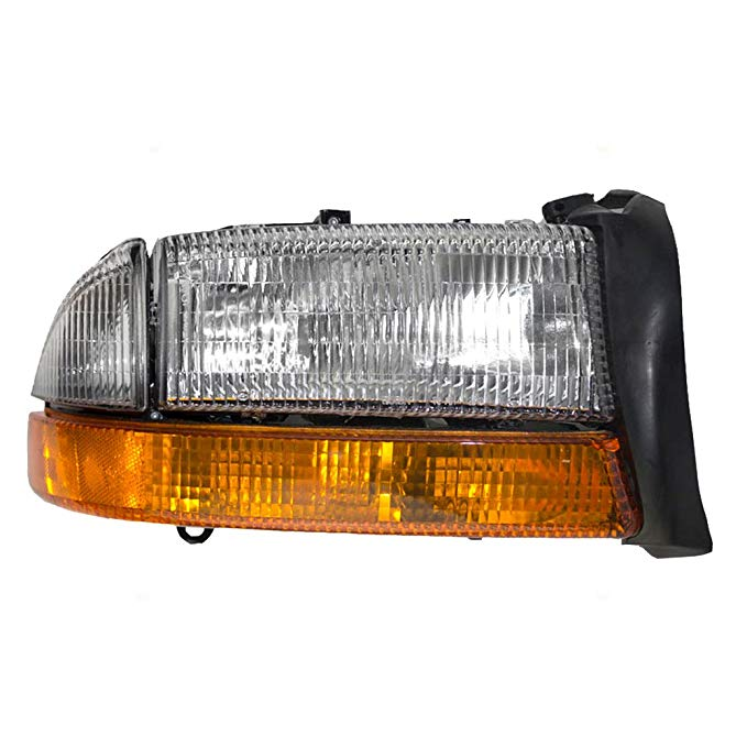 Passengers Headlight Headlamp with パーク Signal ランプ リプレイスメント for Dodge Pickup Truck SUV 55055110AI (海外取寄せ品)