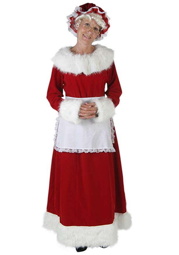 Deluxe Mrs Claus Mrs コスチューム - Claus L Deluxe (海外取寄せ品), アラカワマチ:d1fbeffa --- officewill.xsrv.jp