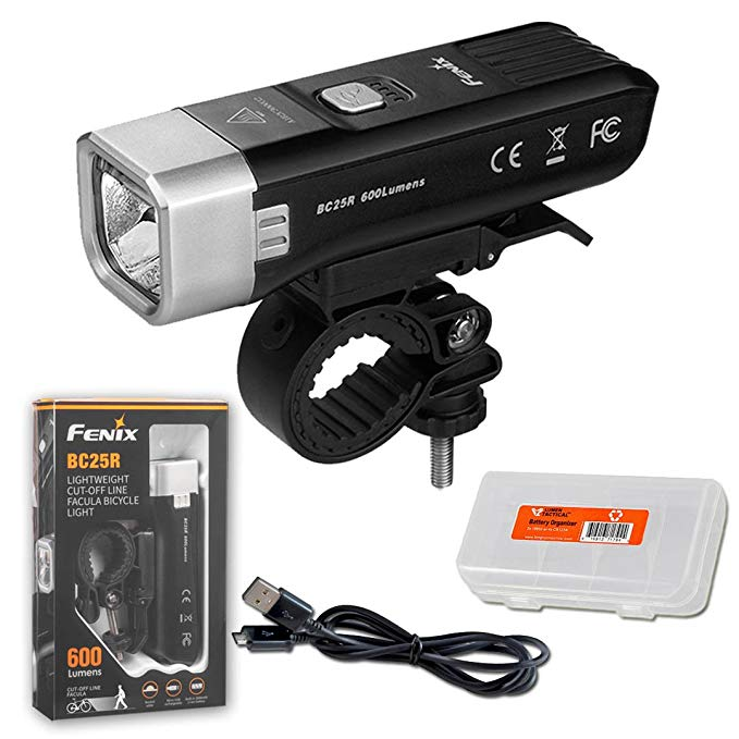 Fenix BC25R 600 Lumen Anti-Glare Rechargeable Bicycle Headlight with LumenTac Organizer 「汎用品」(海外取寄せ品)