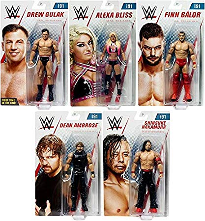 Ringside WWE Series 91 - Complete セット of 5 Mattel Toy Wrestling アクション Figures (海外取寄せ品)