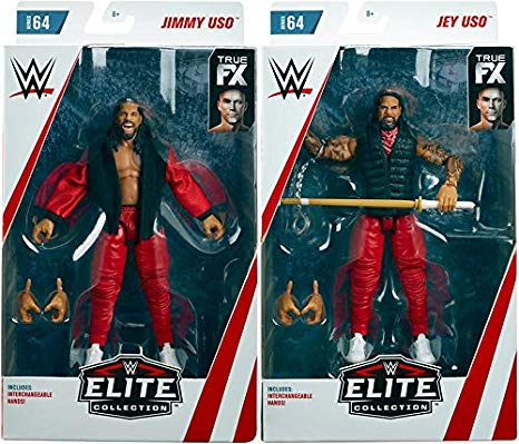 Ringside Package Deal The Usos (Jimmy USO & Jey USO) - WWE エリート 64 Mattel Toy Wrestling アクション Figures (海外取寄せ品)