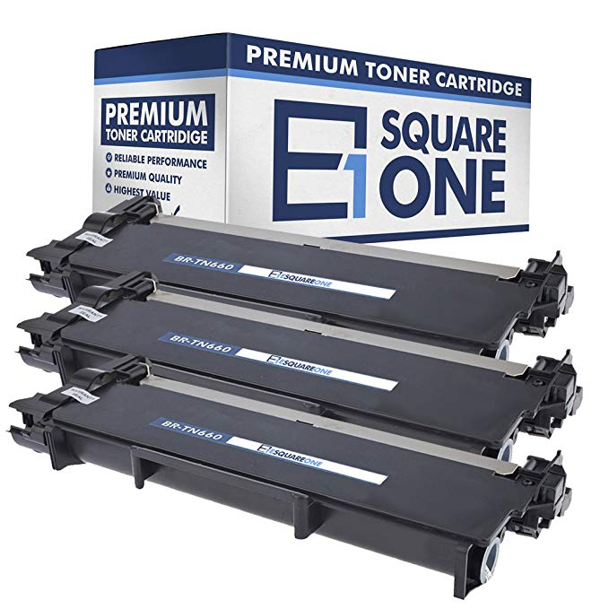 eSquareOne Compatible ハイ Yield Toner Cartridge リプレイスメント for Brother TN660 TN630 (Black, 3-Pack) (海外取寄せ品)