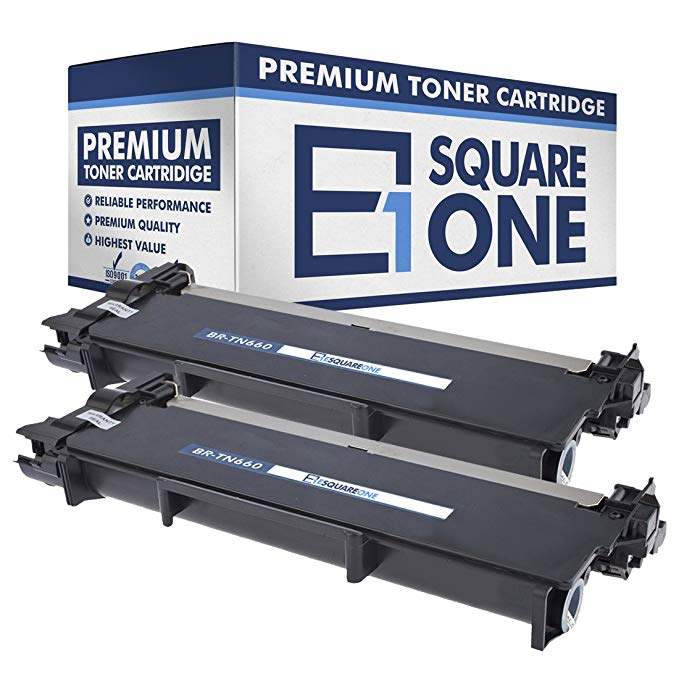 eSquareOne Compatible ハイ Yield Toner Cartridge リプレイスメント for Brother TN660 TN630 (Black, 2-Pack) (海外取寄せ品)