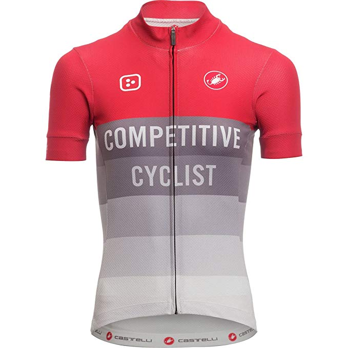 Castelli Competitive Cyclist クラブ ジャージー - レディース レッド/Grey, XXL (海外取寄せ品)