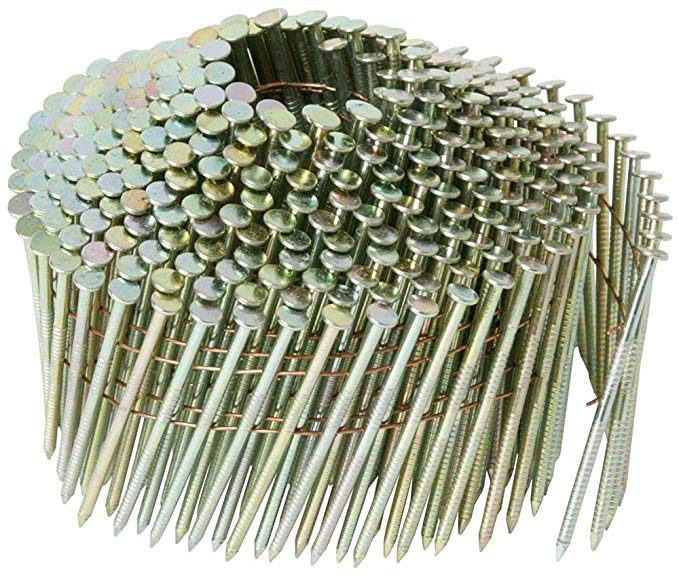 1-1/4 in. x 0.083 in. スチール キャップ リング Shank エレクトロ galvanized Wire Coil ネイル (2,800-Pack) (海外取寄せ品)