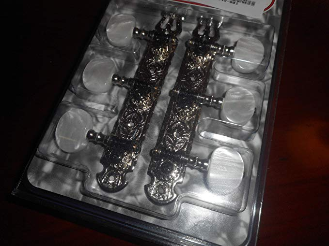 Gotoh Deluxe Tuning キー For Classical Guitar, Pearloid ボタン - NICKEL (海外取寄せ品)