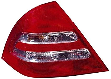 Go-Parts ≫ Compatible 2001-2004 Mercedes-Benz C320 Rear Tail Light ランプ Assembly/レンズ / カバー - Left (Driver) Side - (4 Door; Sedan) 203 820 09 64 MB2800112 リプレイスメント for Mercedes-Benz C320 (海外取寄せ品)