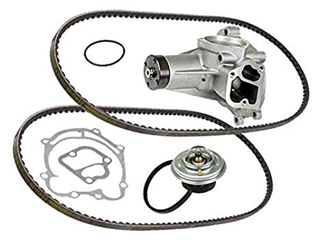 Mercedes 8cyl (72-80) GRAF Coolant Pump +Belt +75c Thermostat +Gasket (海外取寄せ品)