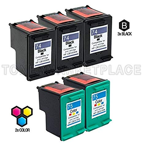 INKUTEN c 5 HP Photosmart C4588 Ink Cartridges コンボ パック (Compatible) (海外取寄せ品)[汎用品]