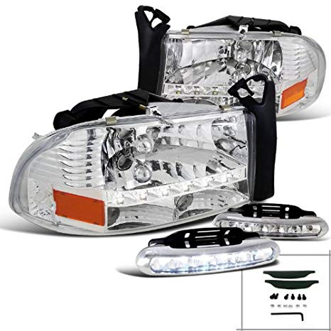 Spec-D Tuning L12-2LHDAK97RS Fog Headlight (Dakota Daytime ランニング ペア LED Lamp) (海外取寄せ品)
