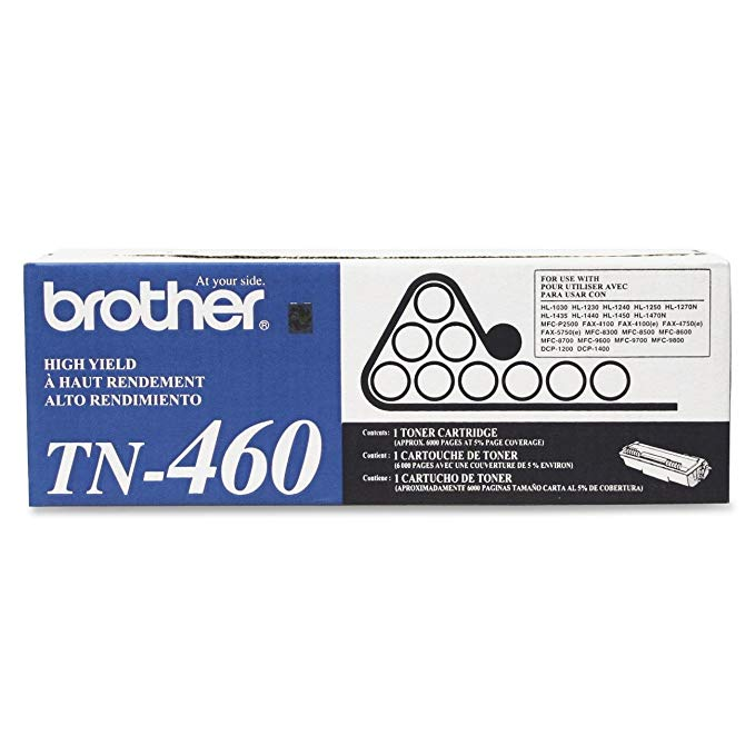 Brother Genuine TN-460 (TN460) ハイ Yield ブラック Laser Toner Cartridge 2-パック (海外取寄せ品)