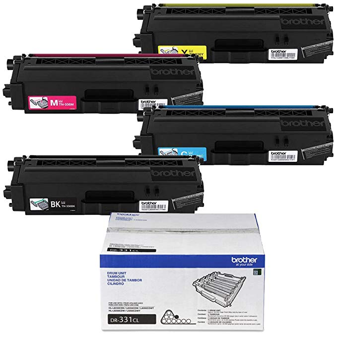 Brother MFC-L8600CDW ハイ Yield Toner Cartridge セット (BK/C/M/Y) with Drum Unit (海外取寄せ品)
