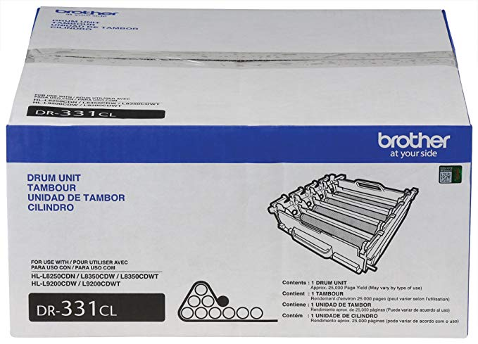 Brother DR331CL リプレイスメント Drum Unit セット for HL-L8250, HL-L8350, MFC-L8600, MFC-L8850 Printers (海外取寄せ品)
