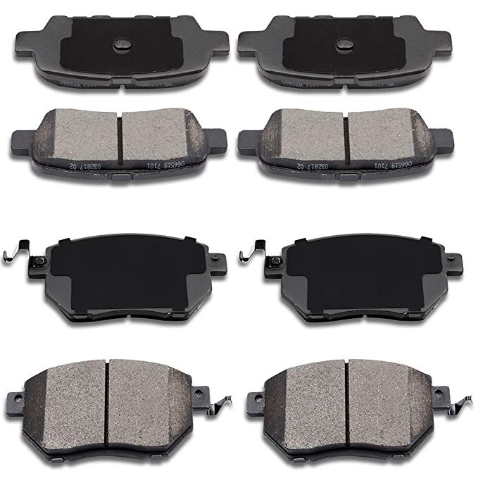 ECCPP Brake Pads キット, フロント Rear Ceramic Brakes Pads フィット for 1994 1995 Honda Civic,1993-1997 Honda Civic del Sol (海外取寄せ品)