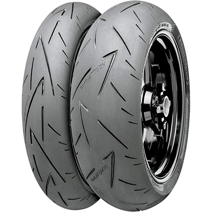 Continental Conti スポーツ Attack 2 Tire - Rear - 190/55ZR-17 , Position: Rear, Tire サイズ: 190/55-17, Rim サイズ: 17, Load Rating: 75, スピード Rating: (W), Tire Type: ストリート, Tire Construction: Radial, Tire Application: レース 0244 (海外取寄せ品)