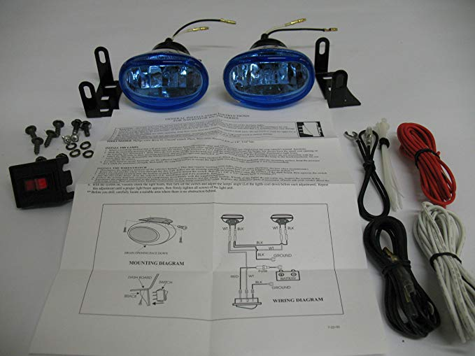 Xenon Driving ライト Fog ランプ Drivinglights Foglights Foglamps キット Compatible with Kawasaki Vulcan 1600 VN1600 (海外取寄せ品)
