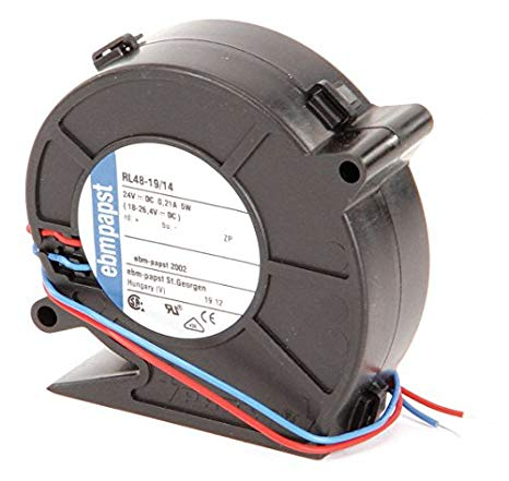 ファン Blower, RL48DC Series, Centrifugal, 24 V, DC, 76 mm, 27 mm, 28 mA3/h (海外取寄せ品)