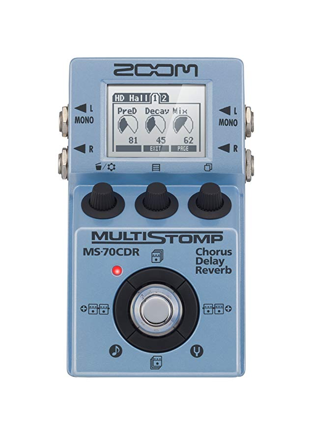 Zoom ZMS70CDR MS-70CDR MultiStomp Chorus/Delay/Reverb Pedal 「汎用品」(海外取寄せ品)