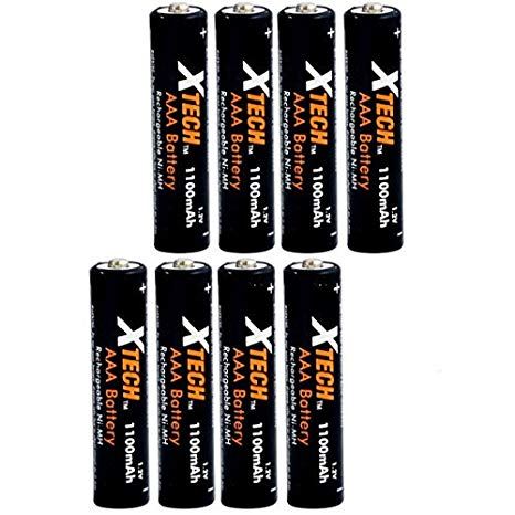 Xtech AAA Ultra ハイ-Capacity 1100mah Ni-MH Rechargeable Batteries by Xtech 「汎用品」(海外取寄せ品)