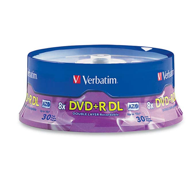 Verbatim DVD+R DL 8.5GB 8X with ブランド Brand Surface - 30pk Spindle 「汎用品」(海外取寄せ品)