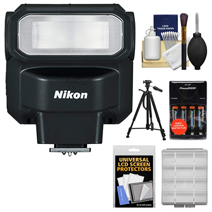 Nikon SB-300 AF Speedlight フラッシュ with Batteries & Charger + Tripod + バンドル キット for DSLR Cameras 「汎用品」(海外取寄せ品)