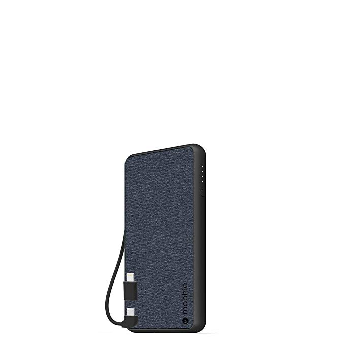 mophie powerstation Plus (6,000mAh) - Qi Wireless Charging with Built in Micro USB and Lighning ケーブル - ブルー 「汎用品」(海外取寄せ品)