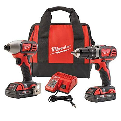 Milwaukee 2691-22 18-Volt Compact Drill and Impact ドライバー コンボ キット 「汎用品」(海外取寄せ品)