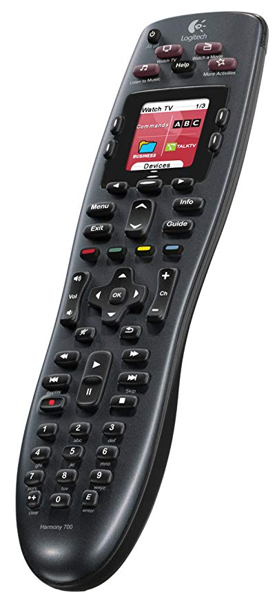 Logitech Harmony 700 Rechargeable Remote with カラー スクリーン (Black) [Discontinued by Manufacturer] 「汎用品」(海外取寄せ品)