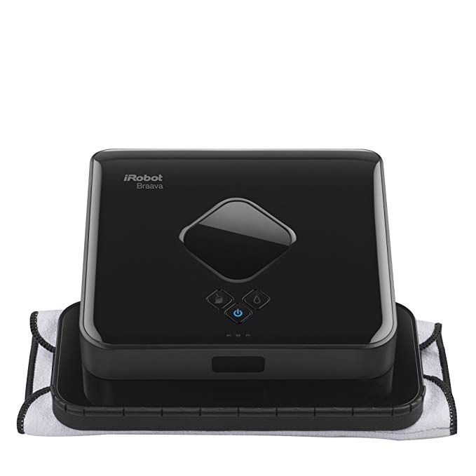 iRobot Braava 380t Advanced Robot Mop- Wet Mopping and Dry Sweeping cleaning モード, ラージ spaces 「汎用品」(海外取寄せ品)
