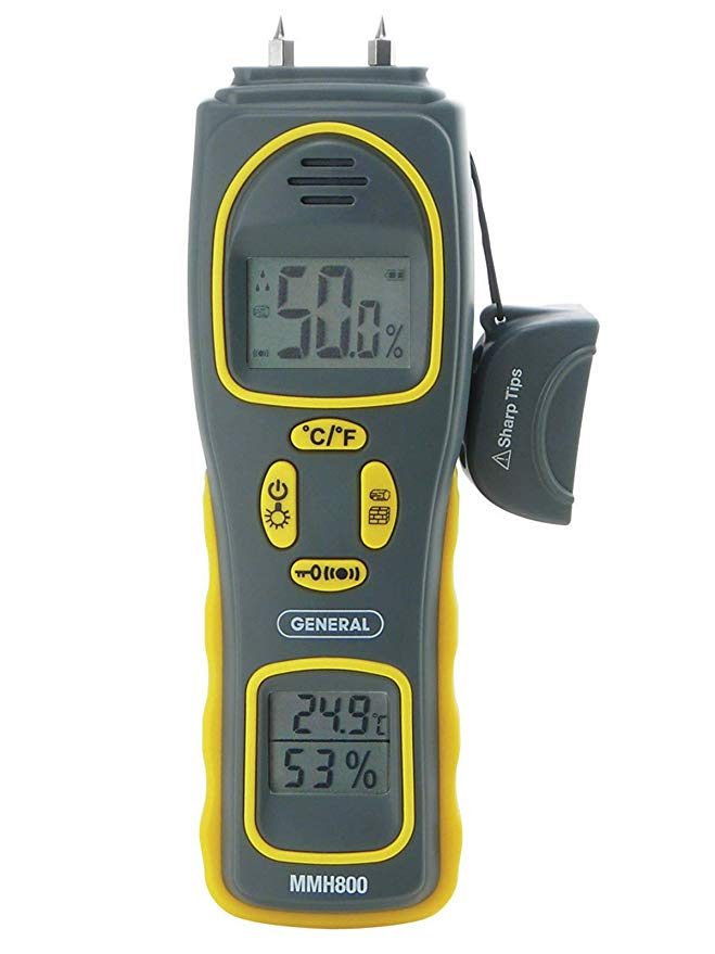 General Tools MMH800 4-In-1 コンボ Moisture メーター, ピン Type or Pinless, テンプレチャー and Humidity, デュアル LCD ディスプレイ, Audible アラーム 「汎用品」(海外取寄せ品)