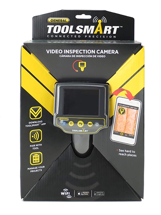General Tools TS03 ToolSmart Wifi Connected Borescope ビデオ Inspection Camera, 3.3-Foot 防水 Probe with 8-mm Camera and 4 LED ライト 「汎用品」(海外取寄せ品)
