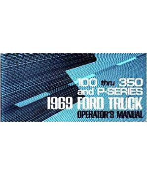 1969 Ford F-100 F-350 P Truck Owners マニュアル User Guide 「汎用品」(海外取寄せ品)
