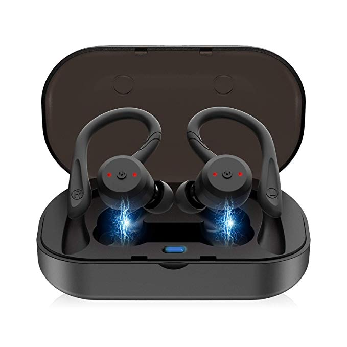 EEEKit True Wireless Earbuds, ブルートゥース 5.0 in-Ear Earbuds Sweatproof スポーツ, True Wireless Headphones with Enhanced Drivers, 3D ステレオ Sound, ビルトイン Mic, ブルートゥース Earphones ヘッドセット 「汎用品」(海外取寄せ品)