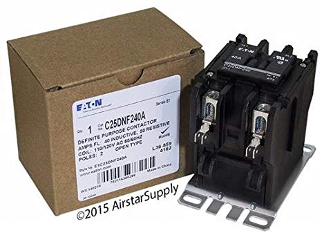 Tyco 3100Y20T10999 - Replaced by Eaton / カトラー ハマー C25DNF240A 50mm DP Contactor , 2-Pole , 40 Amp , 120 VAC Coil Voltage 「汎用品」(海外取寄せ品)