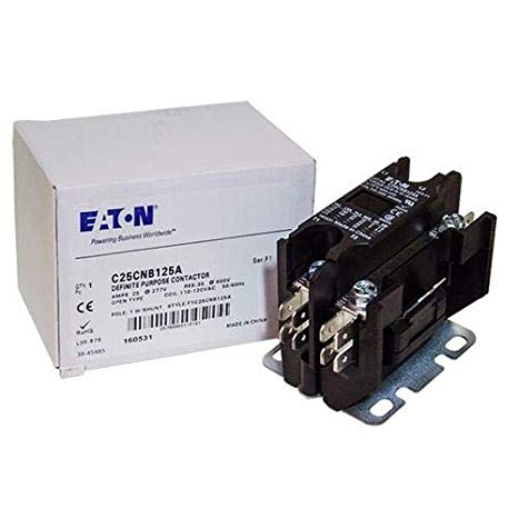 Eaton / カトラー ハマー C25CNB125A Contactor , 1-Pole with Shunt , 25 Amp , 120 VAC Coil Voltage 「汎用品」(海外取寄せ品)